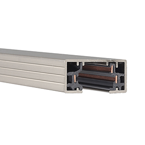 H Series 8 ft. Track with Two Endcaps - Brushed Nickel