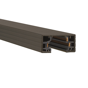 H Series 8 ft. Track with Two Endcaps - Dark Bronze
