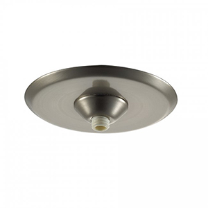 Mini Round One-Light Quick Connect Surface Mount Metal Canopy - Brushed Nickel