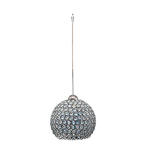 Roxy Quick Connect Brushed Nickel Mini Pendant with Clear Shade