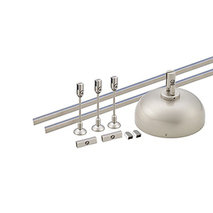 Solorail Power 250W Supply and Rail Kit - Brushed Nickel