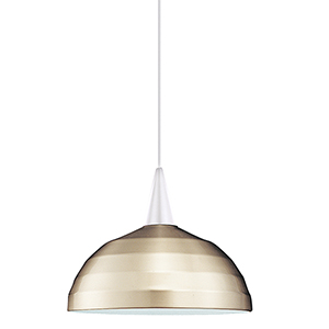 Felis J Series White Mini Pendant with Cone Socket and Brushed Nickel Shade