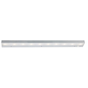 Satin Nickel 30-Inch LED Light Bar Under Cabinet Fixture