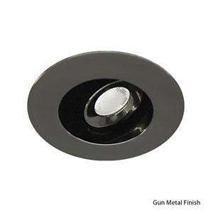 LEDme Gun Metal Recessed Downlight with Adjustable Round Trim - 2700k