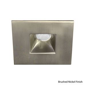 LED Brushed Nickel 2-Inch Recessed Downlight with Open Reflector Square Trim