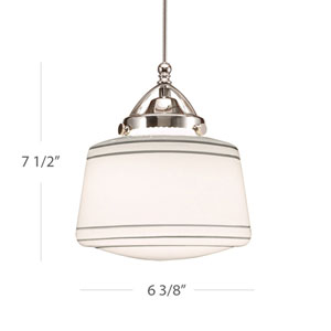Plymouth LED Brushed Nickel Mini Pendant