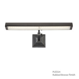 Hemmingway Rubbed Bronze 15-Inch LED Picture Light