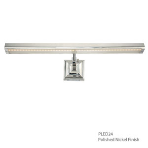 Hemmingway Polished Nickel 25-Inch LED Picture Light