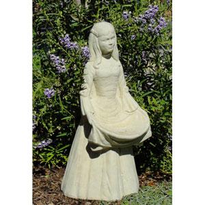 Classic Vintage Prairie Girl Cast Stone Statue