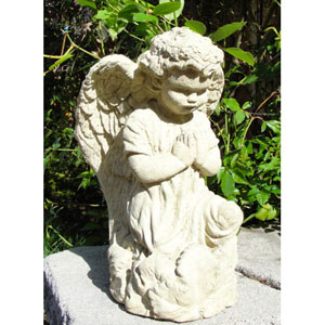 Classic Vintage Praying Angel Cast Stone Statue
