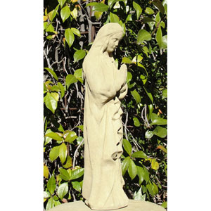 Classic Vintage Praying Madonna Cast Stone Statue