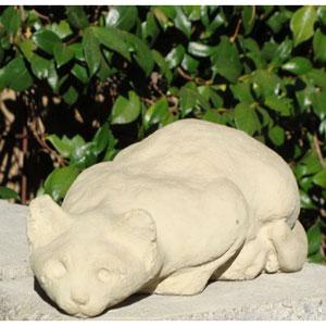 Classic Stalking Cat Cast Stone Statue