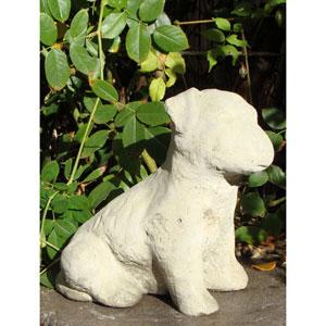 Classic Vintage Garden Puppy Cast Stone Statue