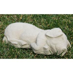 Classic Small Sleeping Pig Cast Stone Statue