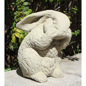 Classic Bashful Bunny Cast Stone Statue