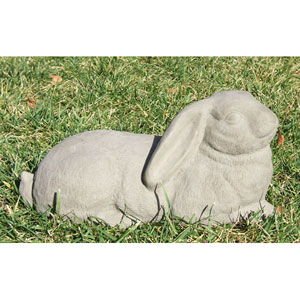 Antique Garden Rabbit Cast Stone Statue
