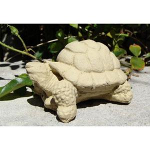 Old Stone Small Desert Turtle Cast Stone Statue
