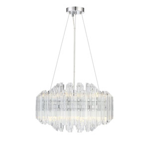 Marquette Polished Chrome 20-Inch LED Chandelier