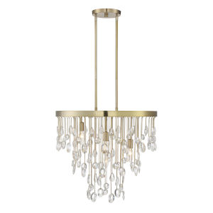 Livorno Noble Brass Four-Light Chandelier
