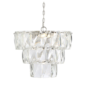Turner Polished Nickel Seven-Light Chandelier
