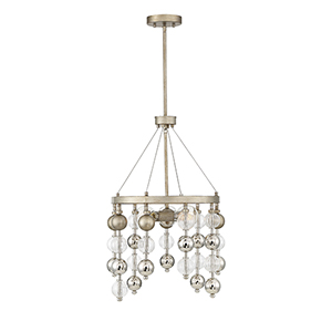 Droplet Argentum Three-Light Chandelier