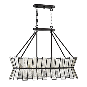 Chapelle English Bronze Five-Light Linear Chandelier