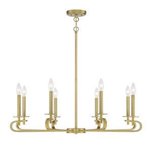 Torino Warm Brass Eight-Light Chandelier
