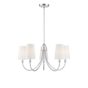 Cameron Polished Nickel Five-Light Chandelier