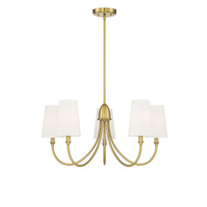 Cameron Warm Brass Five-Light Chandelier