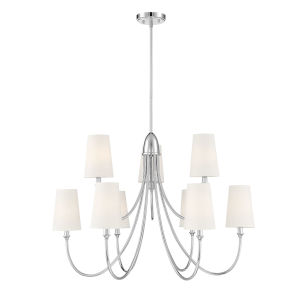 Cameron Polished Nickel Nine-Light Chandelier