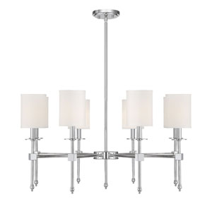 Chatham Polished Nickel Eight-Light Chandelier