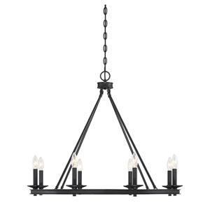Middleton Classic Bronze Eight-Light Chandelier