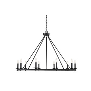Middleton Matte Black 10-Light Chandelier