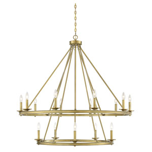 Middleton Warm Brass 15-Light Chandelier