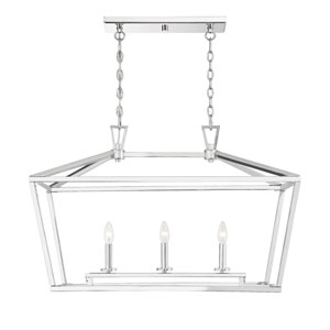 Townsend Polished Nickel 16-Inch Three-Light Pendant