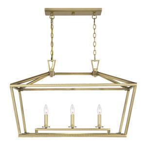 Townsend Warm Brass 16-Inch Three-Light Pendant