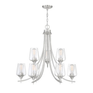 Octave Satin Nickel Nine-Light Chandelier