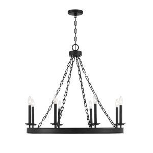 Seville Matte Black Eight-Light Chandelier