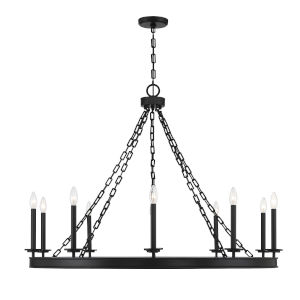Seville Matte Black 10-Light Chandelier