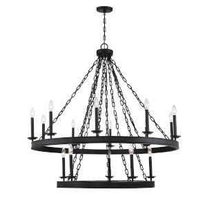 Seville Matte Black 15-Light Chandelier