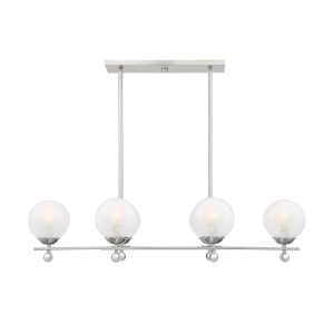 Medina Satin Nickel Six-Light Linear Chandelier