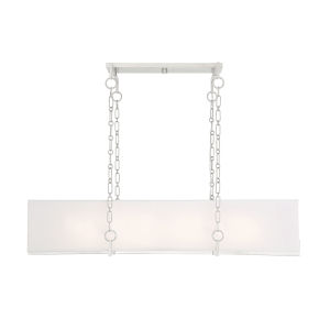 Abbott Satin Nickel Eight-Light Linear Chandelier