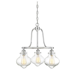 Allman Polished Chrome Three-Light Chandelier