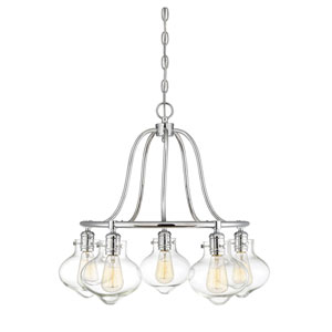 Allman Polished Chrome Five-Light Chandelier