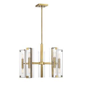 Winfield Warm Brass 10-Light Chandelier