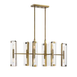 Winfield Warm Brass 12-Light Chandelier