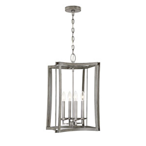 Brookline Pewter and Greywood Four-Light Pendant