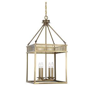 William Warm Brass Four-Light Lantern