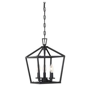 Townsend Matte Black 10-Inch Three-Light Pendant