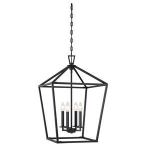 Townsend Matte Black Four-Light Pendant